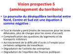 vision prospective 5 am nagement du territoire