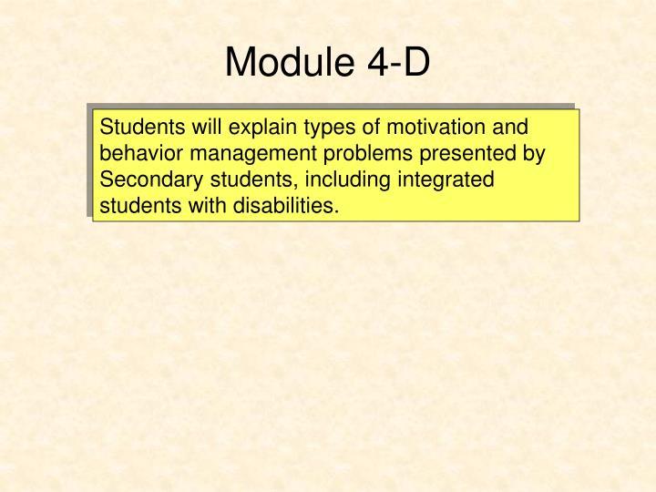 Module 4-D