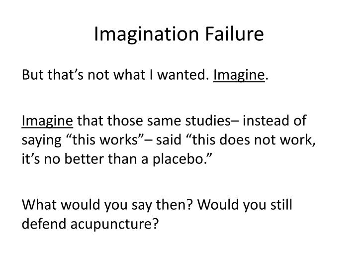 Imagination Failure