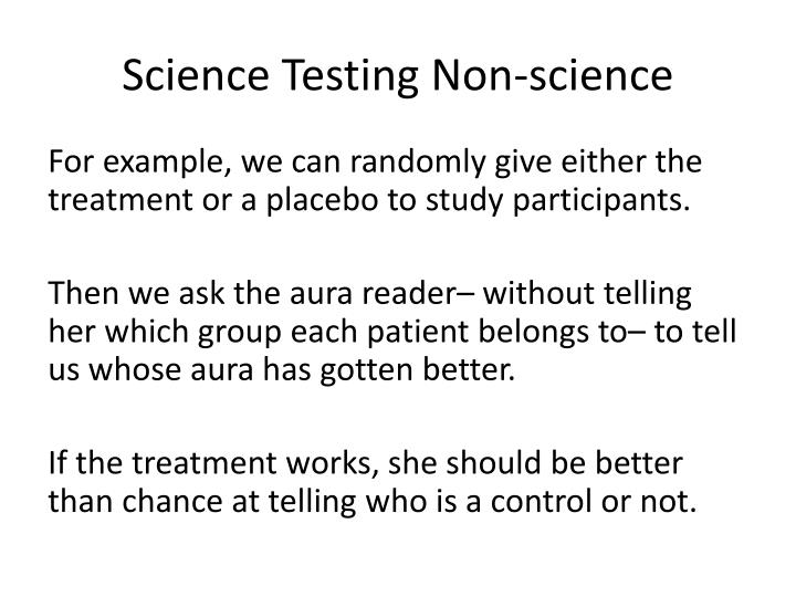 Science Testing Non-science