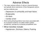 adverse effects1