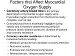 factors that affect myocardial oxygen supply