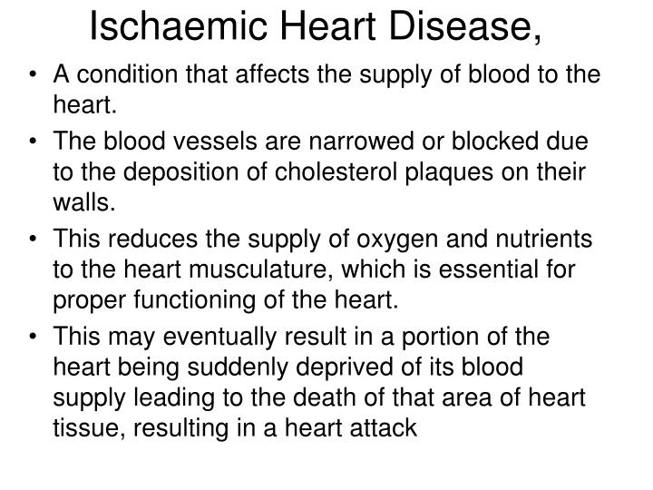 Ischaemic Heart Disease,