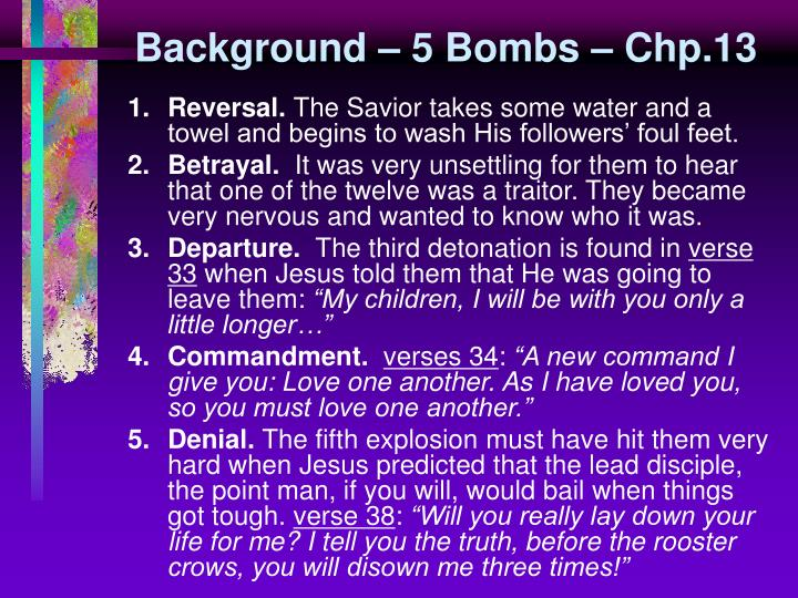 Background – 5 Bombs – Chp.13