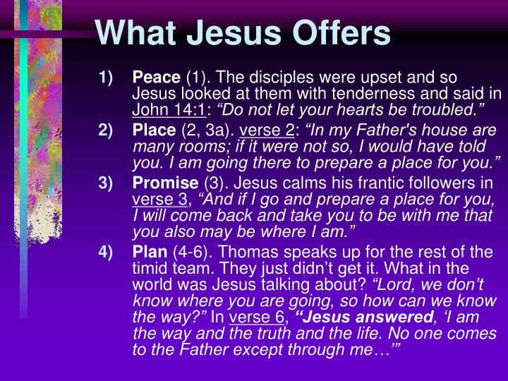 What Jesus Offers