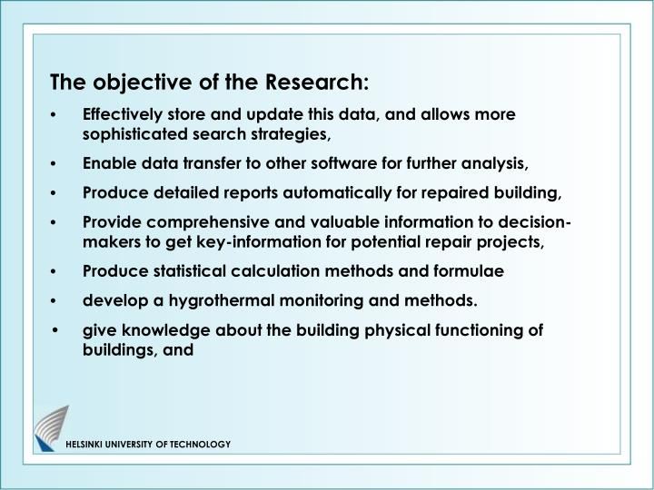 The objective of the Research: