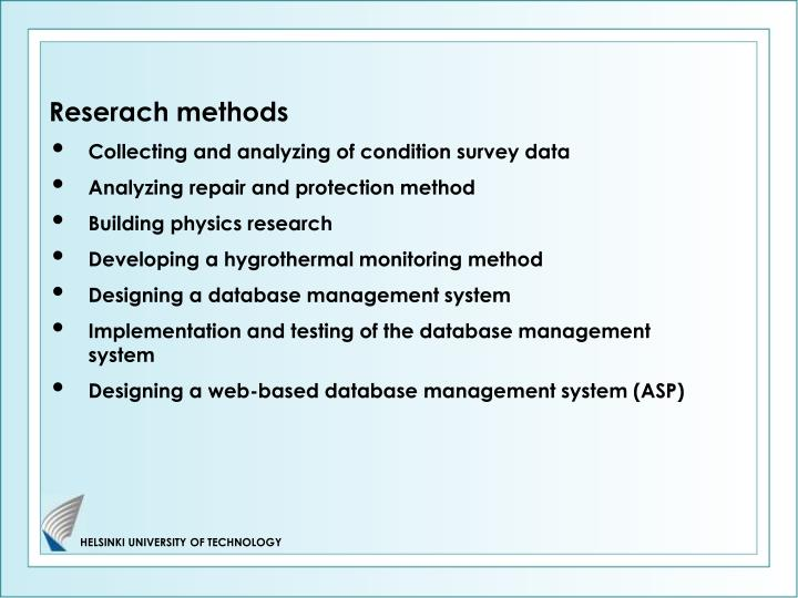 Reserach methods
