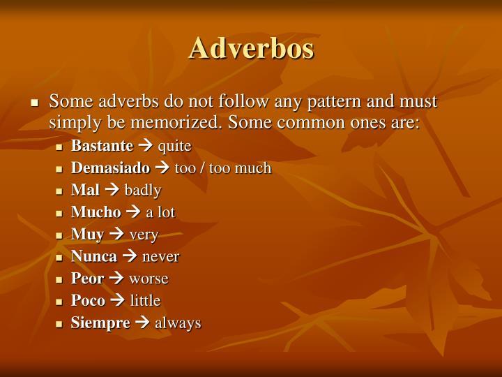 Adverbos