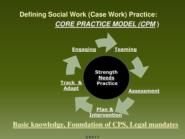 Defining Social Work (Case Work) Practice: