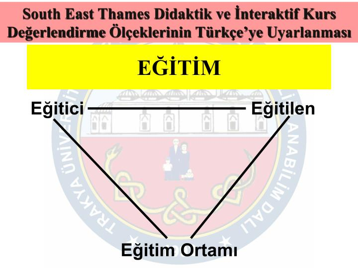 South East Thames Didaktik ve İnteraktif Kurs Değerlendirme