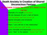 death anxiety in creation of shared unconscious fantasy