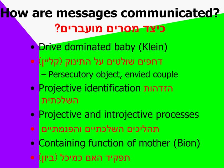 How are messages communicated?