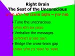right brain the seat of the unconscious1