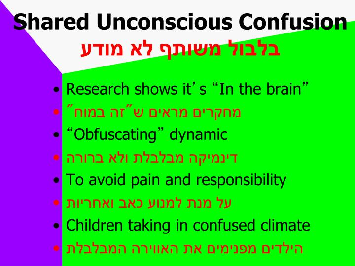 Shared Unconscious Confusion