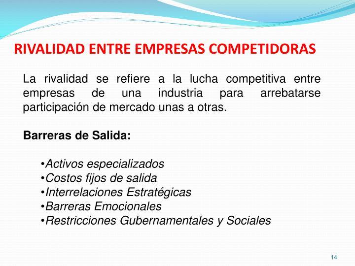 RIVALIDAD ENTRE EMPRESAS COMPETIDORAS