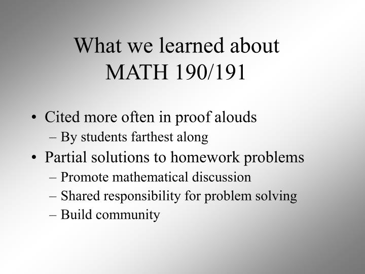 What we learned about