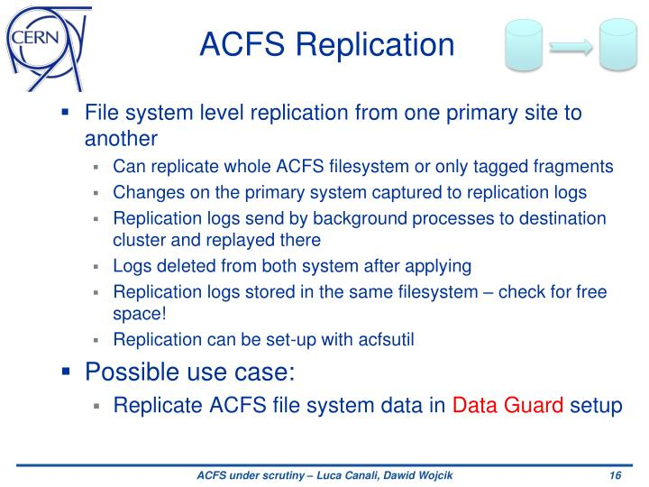 ACFS Replication