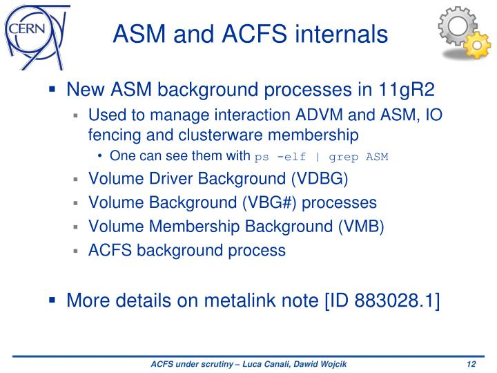 ASM and ACFS internals