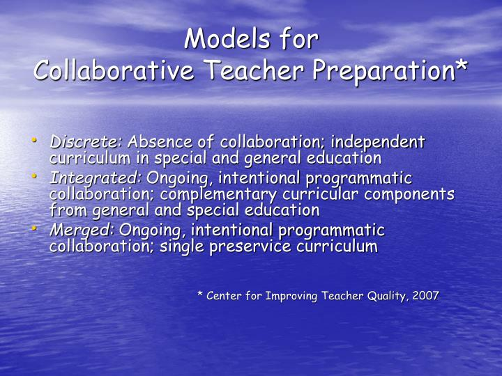 Collaborative Classroom Special Education ~ Ppt effective education for all what faculty need to