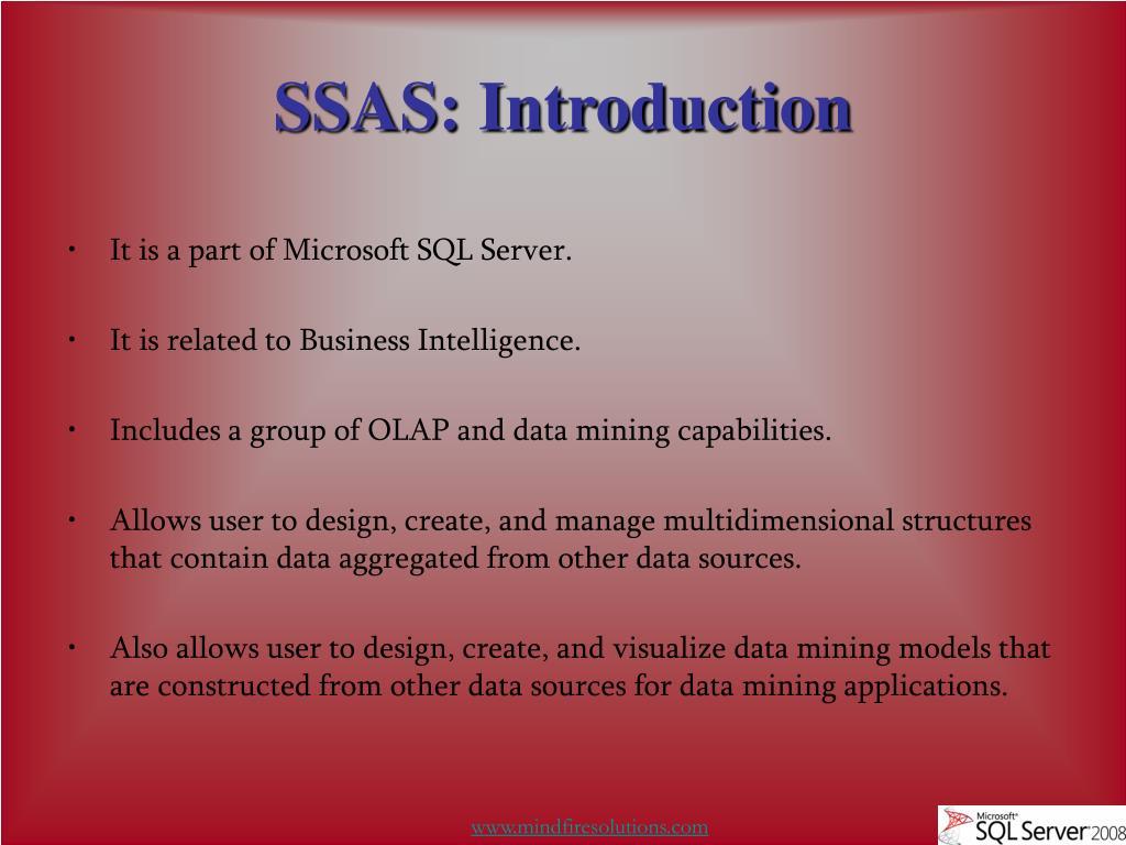 SSAS: Introduction