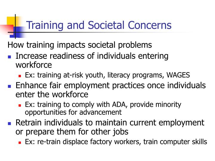 Training and Societal Concerns