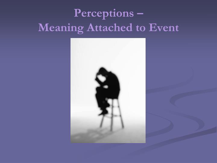 Perceptions –