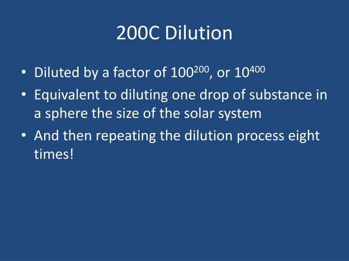200C Dilution