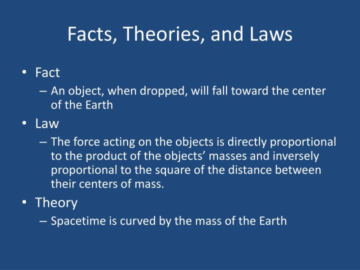 Facts, Theories, and Laws