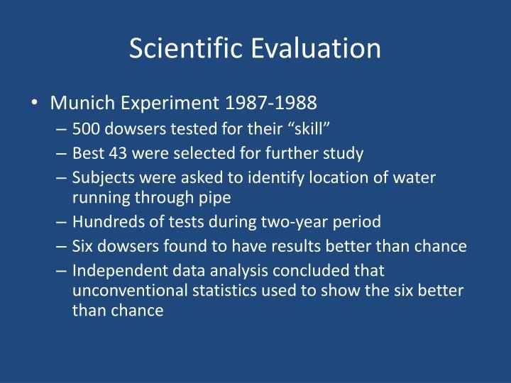 Scientific Evaluation