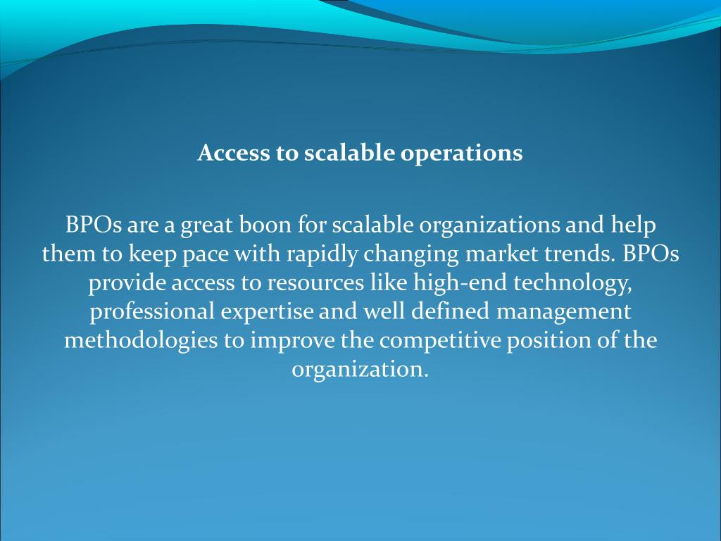 Access to scalable operations