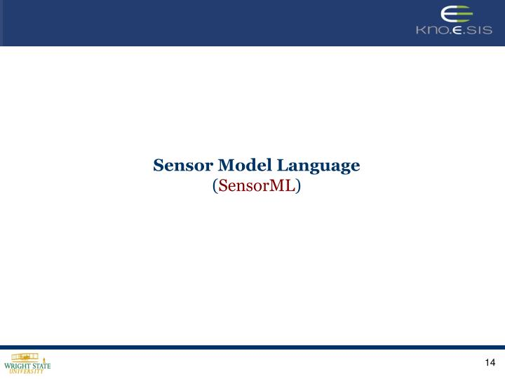 Sensor Model Language