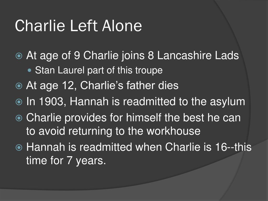 Charlie Left Alone