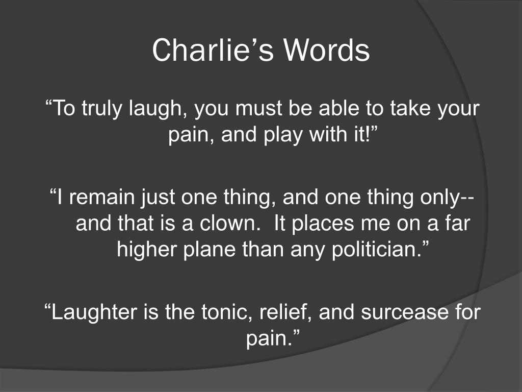 Charlie's Words