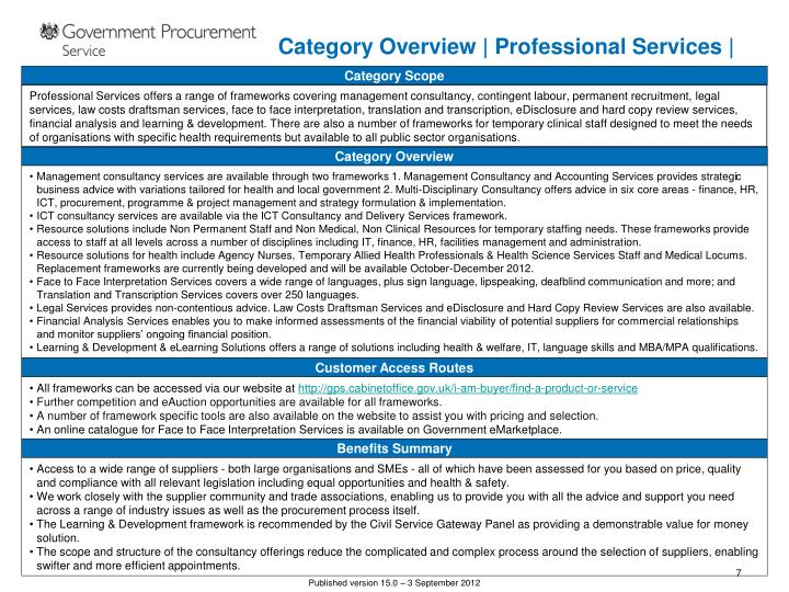 Category Overview | Professional Services |