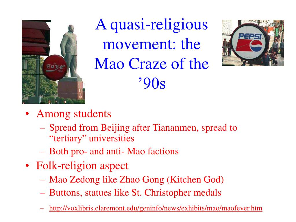 A quasi-religious movement: the Mao Craze of the '90s