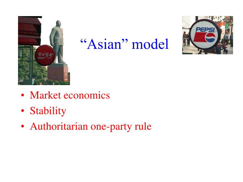 """""""Asian"""" model"""