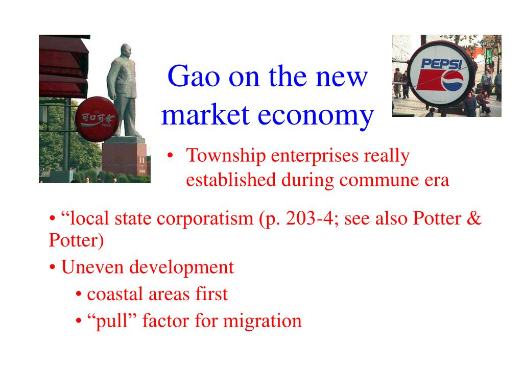 Gao on the new market economy