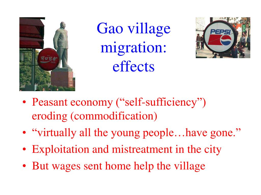 Gao village migration: effects