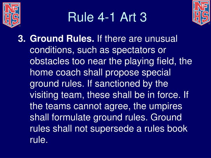 Rule 4-1 Art 3