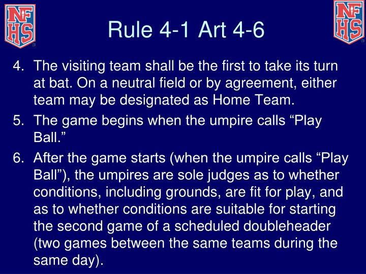 Rule 4-1 Art 4-6