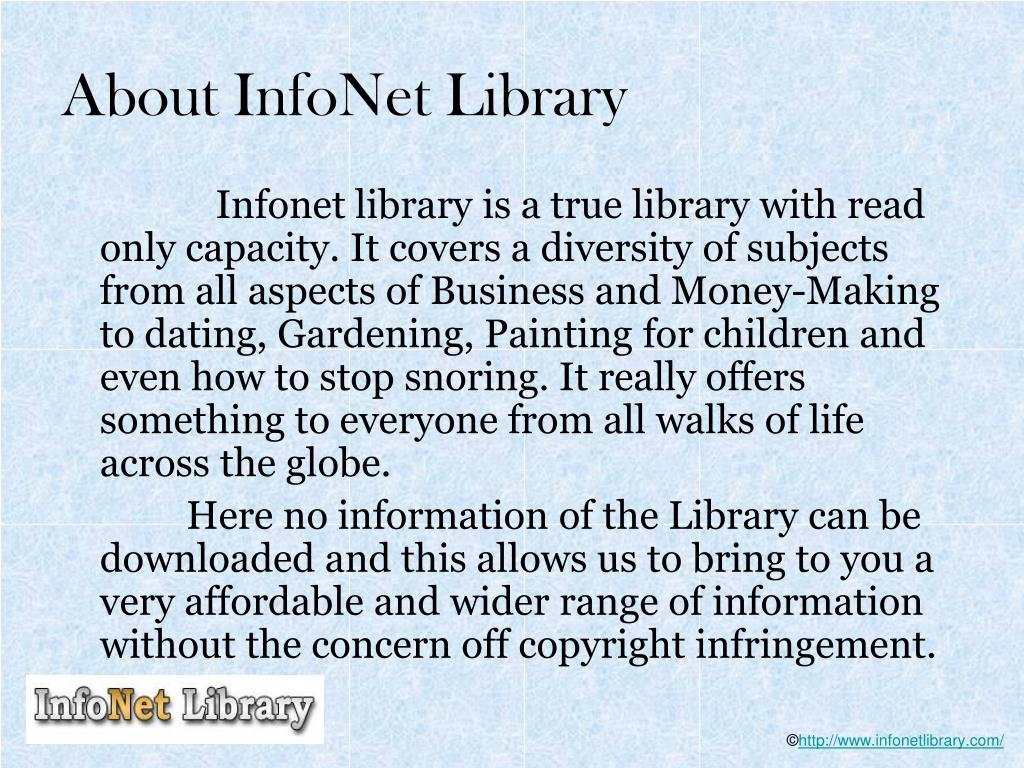 About InfoNet Library