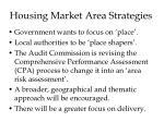 housing market area strategies