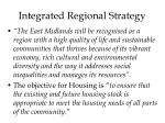 integrated regional strategy