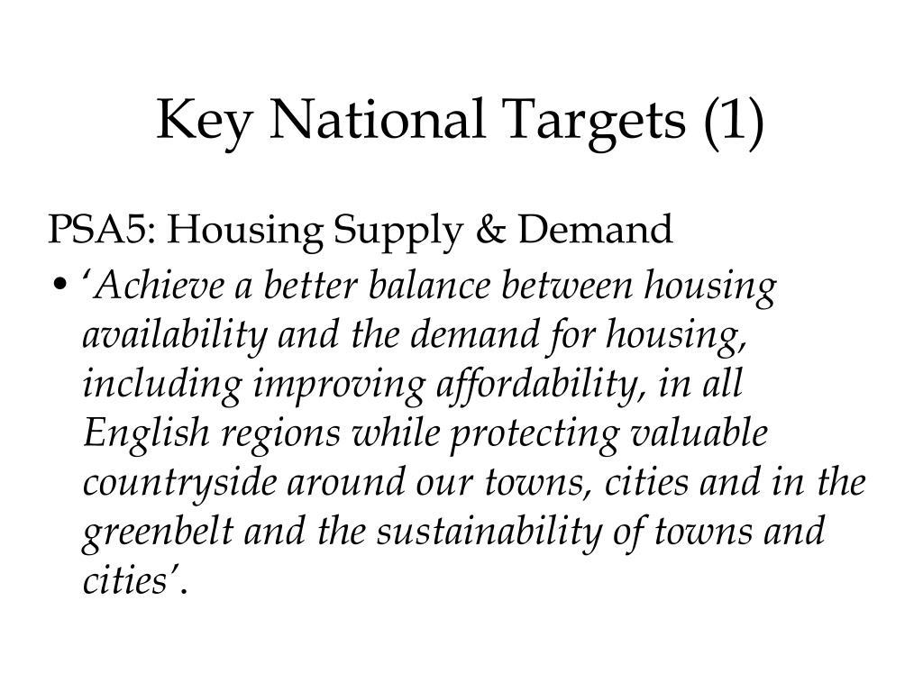 Key National Targets (1)