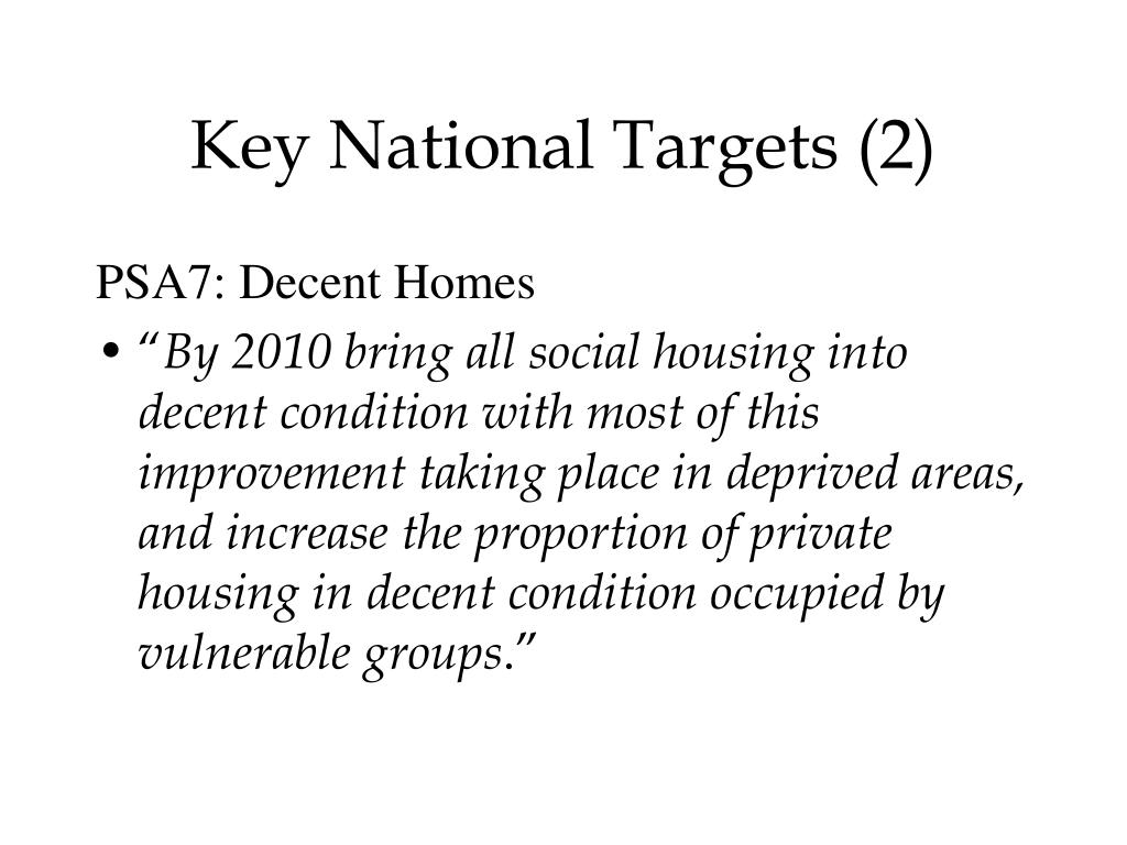Key National Targets (2)
