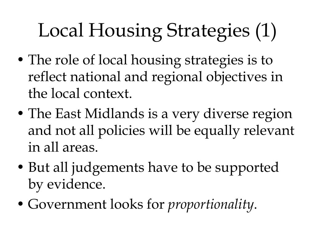 Local Housing Strategies (1)