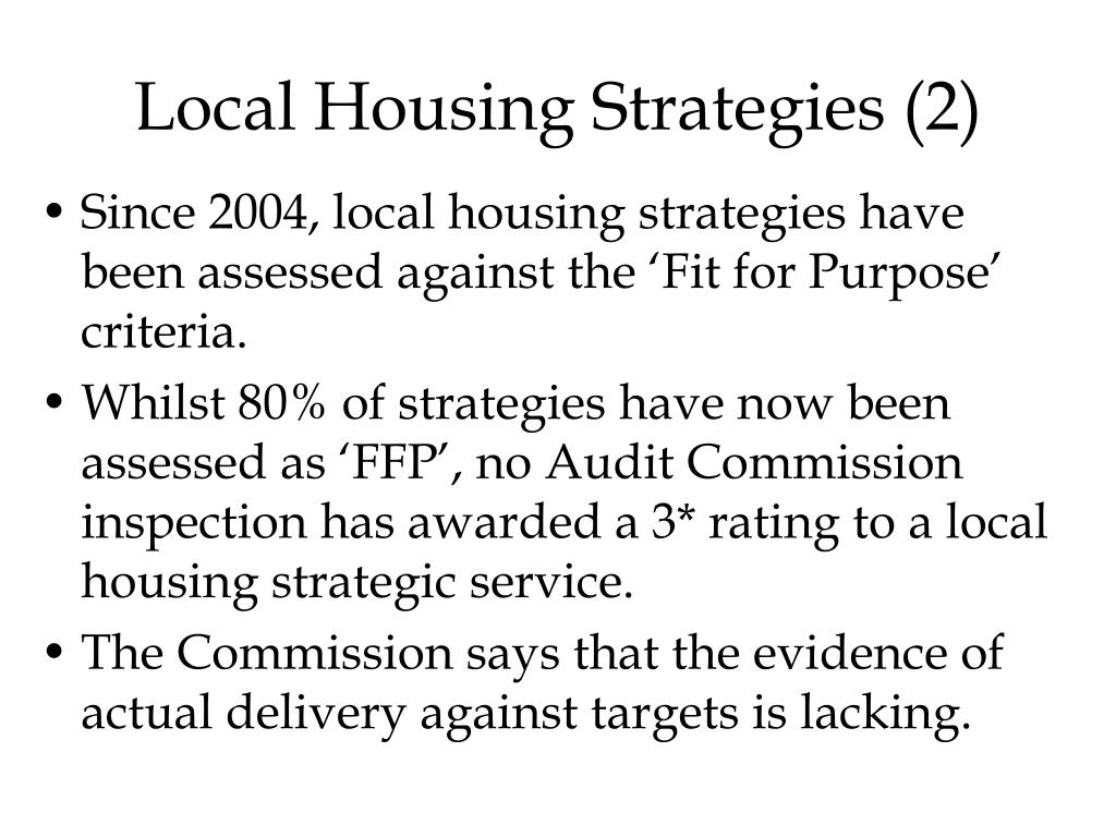 Local Housing Strategies (2)