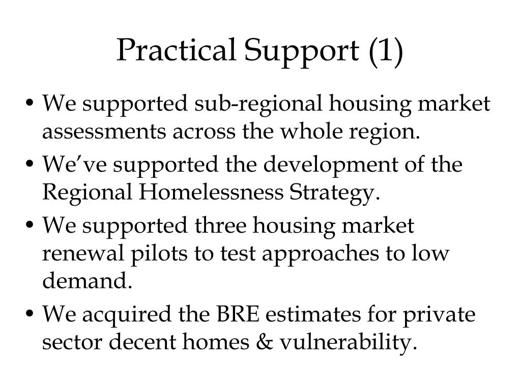 Practical Support (1)