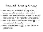 regional housing strategy