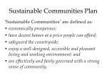 sustainable communities plan